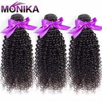 Monika Hair Malaysian Kinky Curly Bundles Human Hair Weave Bundles Non Remy Hair Bundle Deals 8-30 inch Bundles Cabelo Humano