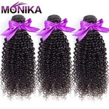 Monika Hair Malaysian Kinky Curly Bundles Human Hair Weave B