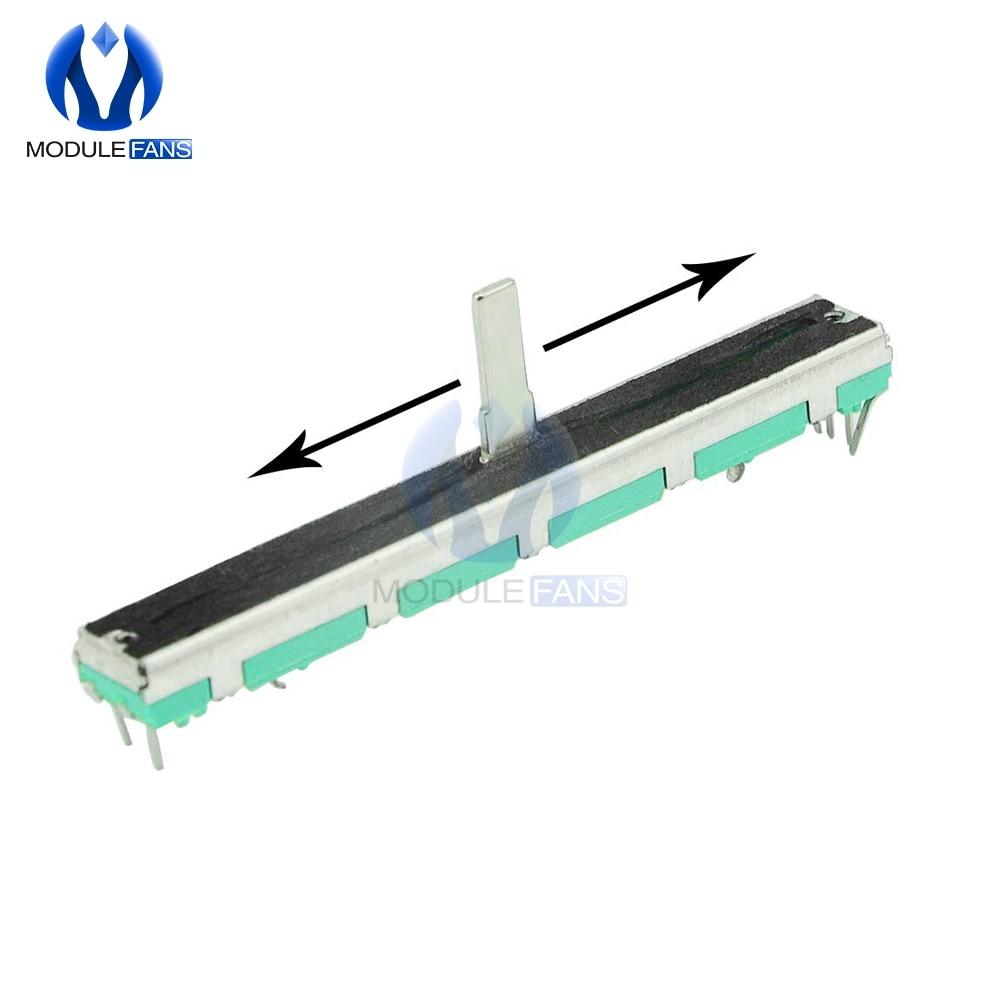 5 шт. резистор B103 10 к Ом Потенциометр Двойной линейный 10 к B10K SC6080GH Регулировка слайда Двойной линейный роторный углеродная пленка