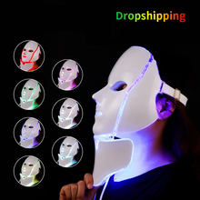 Dropshipping Electric LED Light Photon Therapy Machine Facial Mask LED Mask Skin Tightening Rejuvenation Brighten Beauty Device
