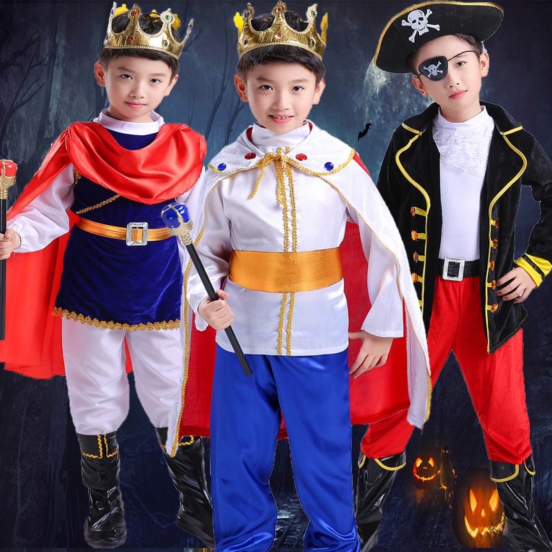 Kids Clothes Set Boys Prince Charming Costume Child Halloween Stage Play Show Costumes Party Cosplay Clothing