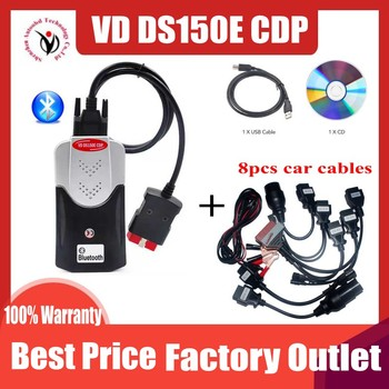 2020 New VCI VD TCS CDP Pro Obd Obd2 Scanner For Delphis VD DS150E CDP 2016.R0 Bluetooth For Car&Trucks Repair Diagnostic Tool 2020 latest tcs cdp pro plus for delphi ds150e cdp cars trucks obd2 diagnostic tools for autocom with full set 8 cables
