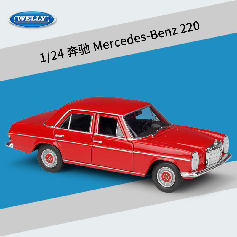WELLY Diecast 1:24 Car Simulator Metal Mercedes Benz 220/230 SL Classic Vehicle Toy Car Alloy Model For Children Gift Collection