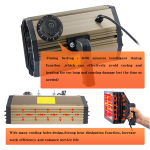 Image 5 - 1000W רכב צבע ריפוי ייבוש מנורת רכב גוף אינפרא אדום צבע מנורת כף יד הלוגן דוד אור בגלים קצרים אינפרא אדום מנורה