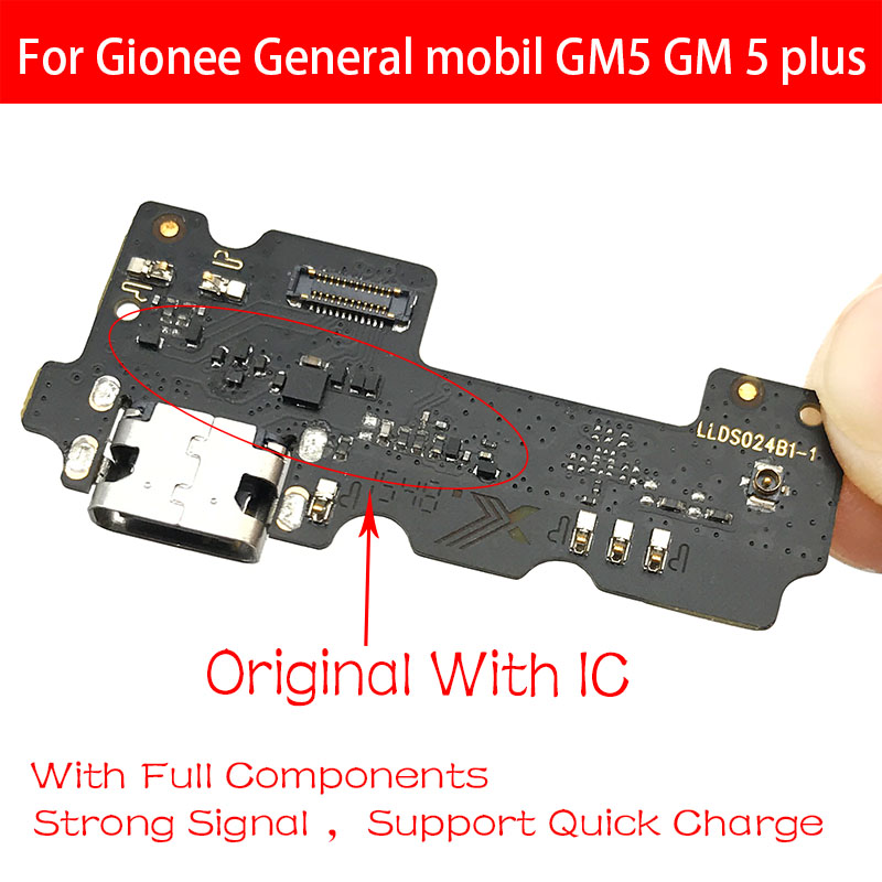 Original For Gionee General Mobil GM5 GM 5 Plus Port USB Charging Port Dock Connector Flex Cable