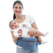 QINHU Baby Sling cintura taburete frontal tipo abrazo multifuncional luz infantil recién nacido solo taburete cuatro estaciones sujetar asiento de bebé