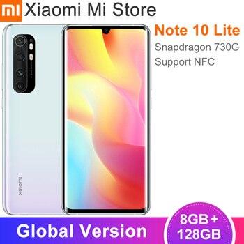 Global Version Xiaomi Mi Note 10 Lite Smartphone 8GB RAM 128GB ROM Snapdragon 730G NFC 5260mAh 64MP 6.47″ FHD+ Screen