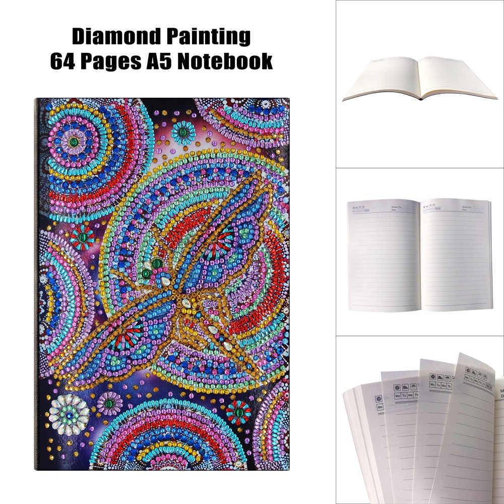 Venda quente a5 64 páginas pintura diamante caderno mandala padrão diy diamante bordado ponto cruz estudante diário livro crianças presente