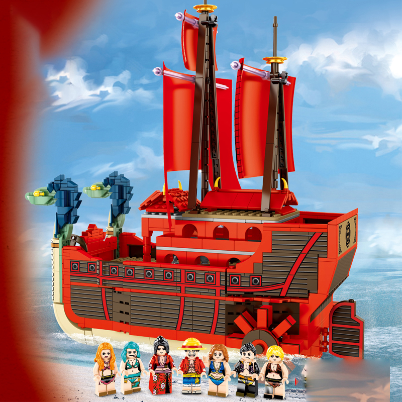 SY SY6296 One Piece Pirate Ship Nine Serpents