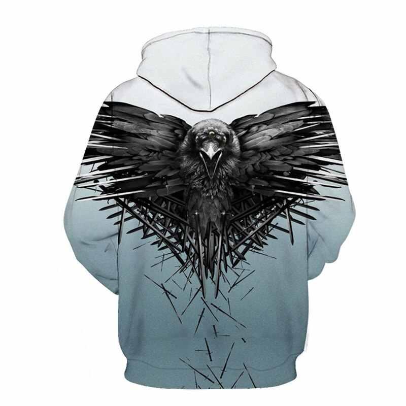 Pieśń lodu i ognia 3D nadruk, Game o tron jesień odzież sportowa dres codzienna bluza z kapturem mężczyzn/kobiety bluza Harajuku Streetwear