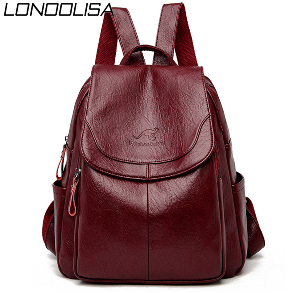 Bagpack Women Leather Backpack Designer Shoulder Bags For Women 2020 Back Pack School Bags For Teenage Girls Mochila Feminina