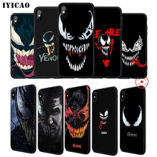 IYICAO Venom Marvel Soft Phone Case for iPhone 11 Pro XR X XS Max 6 6S 7 8 Plus 5 5S SE Silicone TPU