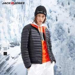 JackJones Мужская зимняя легкая-вес короткая уличная одежда зимняя мужская повседневная модная пуховая куртка мужская одежда   218312527