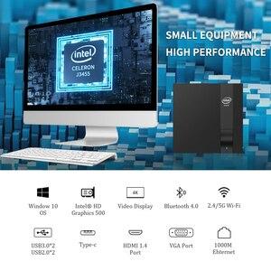 Image 2 - Mini PC Intel Celeron J3455 Quad Core 4GB/8GB DDR3L 128GB M.2 SSD 4K 2.4/5.0G WiFi Bluetooth4.0 4*USB Type C HDMI VGA Windows 10