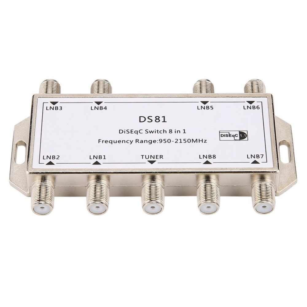 DS81 8 en 1 Signal Satellite commutateur DiSEqC récepteur LNB Multiswitch robuste Zinc moulé sous pression chromé traité