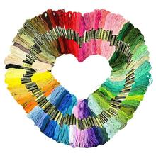 36/50/100 Skeins of Multicolor Thread Cross Stitch Cotton Sewing Skeins Hand Embroidery Thread Floss Kit DIY Sewing Tools jiwuo 100 color embroidery floss cross stitch cotton bamboo embroidery thread sewing skeins floss hoop kit sewing craft tool