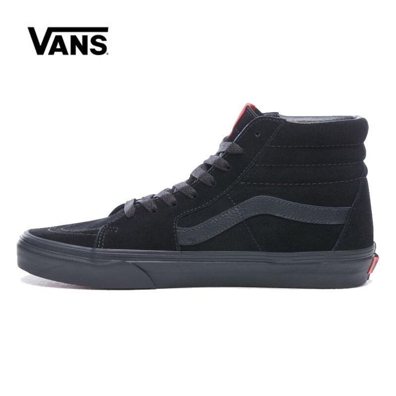 Vans Sk8 Hi Black Man Shoes Women Unisex Original High Classic Sneakers Skateboarding Vans Shoes VN000D5IBKA