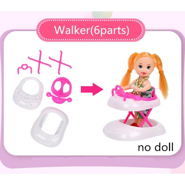 94pcs Doll Furniture Pretend Play Toy Sofa Shoes Jewelry For Doll Brabie Kelly Doll House Accessories Girl Present  Wholesale 6