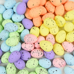20Pcs 4cm Foam Easter Eggs Happy Easter Decorations Painted Bird Pigeon Eggs DIY Craft Kids Gift Favor Home Decor Easter Party
