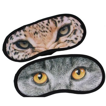 1 sztuk śliczne trójwymiarowe Blindfold maska na oczy ochraniacz do snu do oczu cień podróży do snu do oczu osłona oczu pomoc w leczeniu zaburzeń snu pokrywa kot tanie i dobre opinie CN (pochodzenie) Cień do powiek 3d eyeshade 4-20 cmh2o
