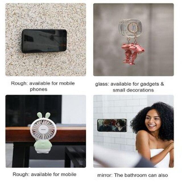 Nano support multifonction en caoutchouc téléphone | Pour téléphone pour mur, aspiration voiture support de téléphone, enrouleur de câble, forte absorption Gel Pad autocollant de bureau