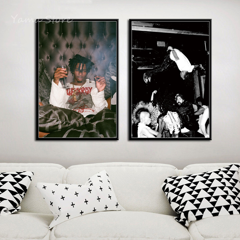 Playboi Carti popular music album hip hop rap star art painting canvas poster wall home decoration hight quality home Decor image