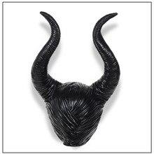 Модный Натуральная Латекс maleficent horns взрослых женщин Хэллоуин Карнавальный костюм jolie головной убор для косплея шляпа