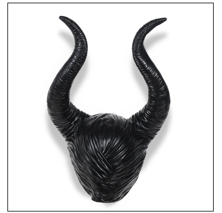 Us 7 84 30 Off Trendy Genuine Latex Maleficent Horns Adult Women Halloween Party Costume Jolie Cosplay Headpiece Hat Free Shipping On Aliexpress