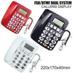 UK Plug Corded Phone Landline Telephone Home Office Desktop Speakerphone LCD Display FSK/DTMF Dual System Landline Phone