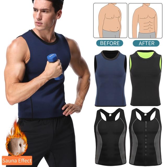 Men Workout Body Shaper Waist Trainer Tummy Slimming Sheath Abs Abdomen Shapewear Tops Slimming Trimmer Belt Vest Sweat Corset