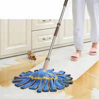 Rotary Self-Twisting Water Mop Household Cleaning Tile Wood Floor Mop Absorbent Steel Rod Mop Head Free Hand Wash
