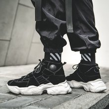 Fashion Men Sneakers Brand Designer Platform Chunky Sneakers Sports Sneakers Lace Up Hip Hop Street Shoes Tenis Masculino
