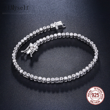 Elegant Pure Sterling Silver 7 Inch Tennis Bracelets Jewelry Setting 2mm Round Crystal Luxury Eternal 925 Zirconia Jewellery