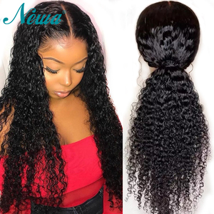 Image 3 - Newa Hair Full Lace Human Hair Wigs With Baby Hair Curly Pre Plucked Full Lace Wigs For Black Women Brailian Remy Hair Lace Wigs