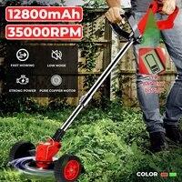 Cortacésped eléctrico inalámbrico de doble rueda, cortador de poda ajustable para jardín, herramientas para batería Makita, 35000RPM