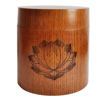 Chinese Retro Handmade Wooden Tea Canister Spice Caddy Coffee Bean Jar Storage Box Organizer Bottle Tea Set Box Seal Cover Chris|Tea Caddies|Home & Garden -