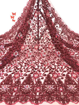The latest African lace fabric 2020 high-quality serial lace Nigerian French lace fabric for wedding dress material FJ3697