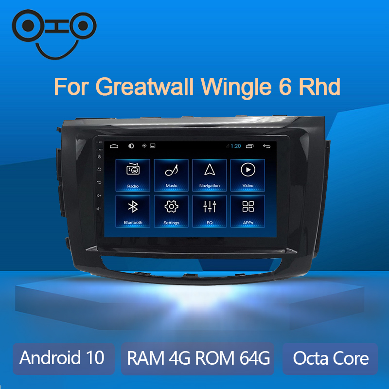 Wingle 6 Android 9.0 Octa Core Car Multimedia Player Radio For 2015 Gwm Steed 6/Greatwall Wingle 6 Rhd