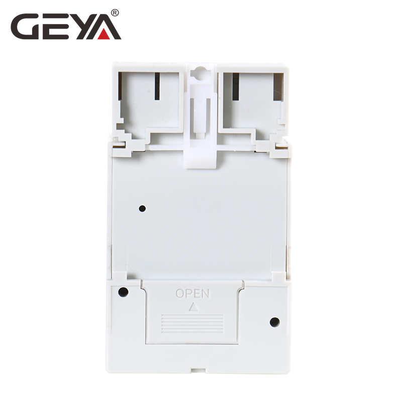 GEYA SUL181h 220V czas przełącznik 24 godzin mechaniczny programowalny na szynę Din przełącznik czasowy z przekaźnikiem z baterią 110 V-240 V