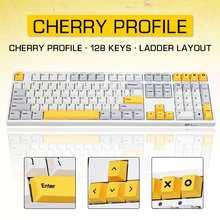 128 tasten Schwere Industrie Keycap Set für 64/68/84/87/96/980/104/108 Schlüssel Mechanische Tastatur KIRSCHE Profil Schalter PBT Schlüssel Kappe