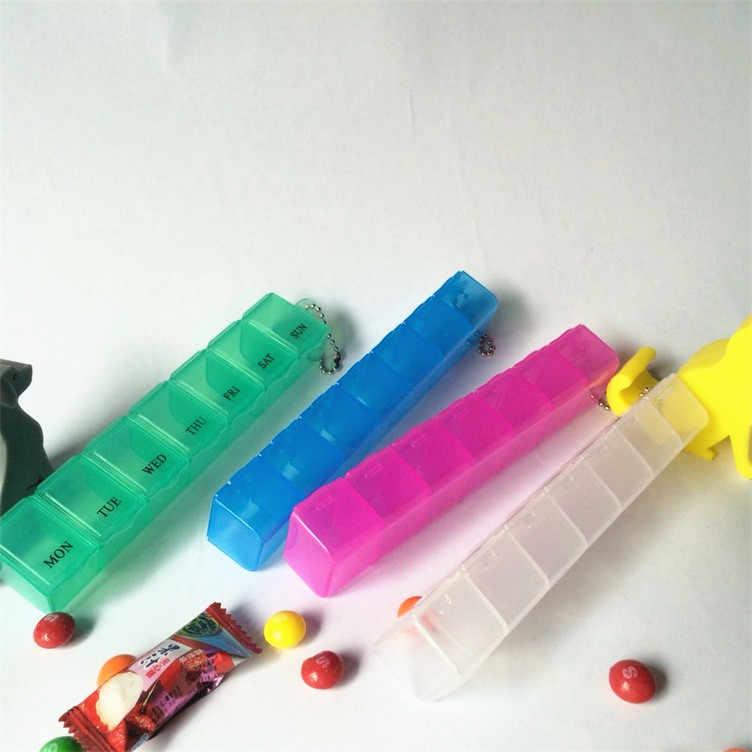 1 قطعة 4 ألوان التخزين المنظم علب للمجوهرات 7 أيام أسبوعية لوحة أقراص صندوق دواء حامل حاوية صندوق حبة الخائن