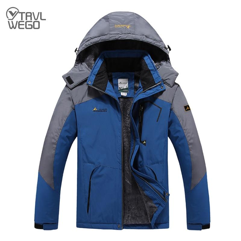 TRVLWEGO -20 Degree Super Warm Winter Ski Jacket Hiking Men Waterproof Breathable Snowboard Snow Jacket Outdoor Skiing Coat