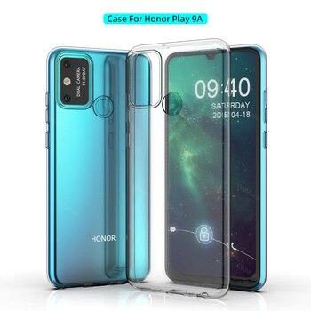 Перейти на Алиэкспресс и купить Чехол Honor Play 9A для Huawei Honor Play 9A, силиконовый прозрачный чехол-бампер из ТПУ, мягкий чехол для Huawei Honor Play 9A, задняя крышка