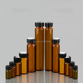 3ml to 50ml Amber Lab Glass sample bottles brown screw-mouth essential oil bottle Lab vial Chemistry Glassware 500ml 24 40 glass erlenmeyer flask chemistry conical bottle lab glassware