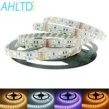 Double Row RGBW LED Strip 5050 RGB 2835 White Warm White DC 12V 120LED/m 5m 600Leds Non-waterproof Home Light FPC LED Holiday цена и фото