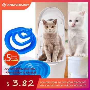 Pet Citi przydatne kitty taca dla kotów kuweta dla kota szkolenia kot toalety czyszczenie Arenero Gato kuweta Pet taca deska klozetowa tanie i dobre opinie Plastic Semi-closed Koty 701JZY