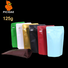 1/4 lb coffee Grains Snack nut chocolate food packing Bag zipper Aluminum foil storage flat ziplock Wide bottom valve stand up