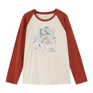 Image 5 - INMAN 2022 primavera nueva llegada literaria algodón Color a juego estampado deporte Grilish ocio Camiseta de manga larga