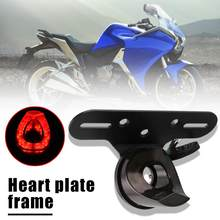 Motorcycle Number Plate Frame Holder Bracket and Tail Light Motorbike Accessories Classic Colors and Simple Durable Design(China)