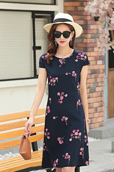 New New Summer Dress Woman Long Paragraph Floral Loose Sleeveless Dress Cotton Silk Women's Dress Plus Size S-6XL — stackexchange